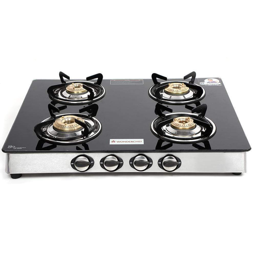 Wonderchef Zest 4 Burner Glass Cooktop
