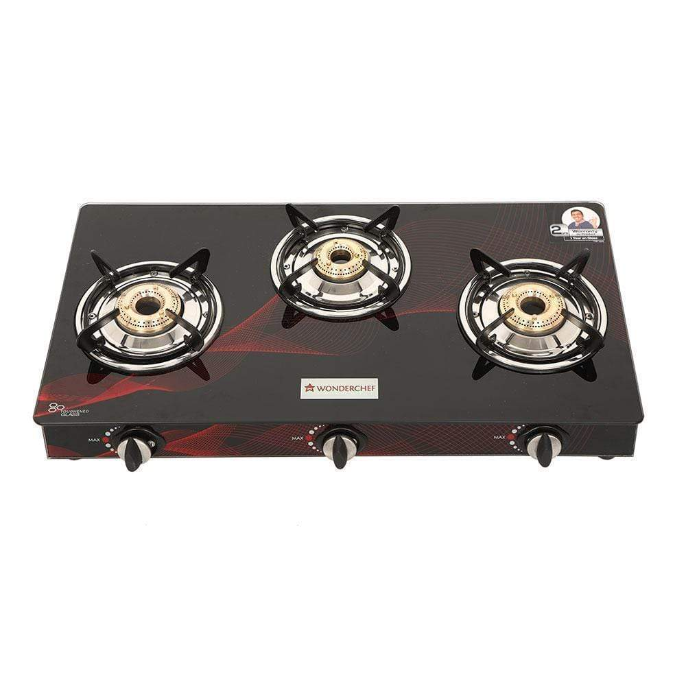 Wonderchef Zing 3 Burner Glass Cooktop