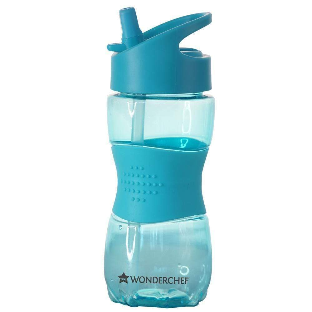 Wonderchef Sippy Single Wall Water Bottle 350ml Blue