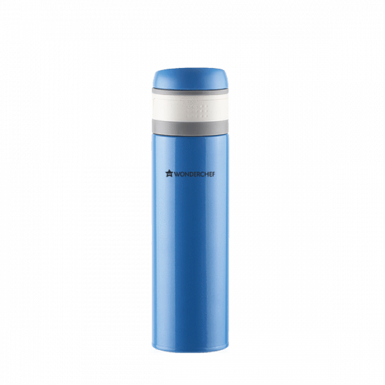 Uni-Bot Double Wall Stainless Steel Vaccum Insulated Hot and Cold Flask 500ml, Blue