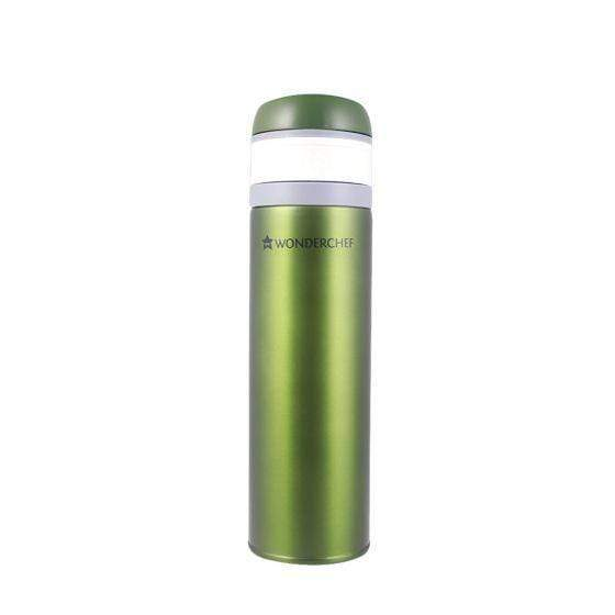Uni-Bot Double Wall Stainless Steel Vaccum Insulated Hot and Cold Flask 500ml, Olive Green