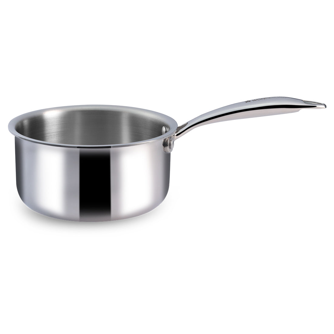 Nigella 3-ply Stainless Steel Sauce Pan-16cm, 1.5L, 2.6mm, Silver