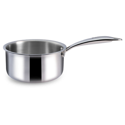 Nigella 3-ply Stainless Steel Sauce Pan-16cm, 1.5L, 2.6mm, Silver-Cookware