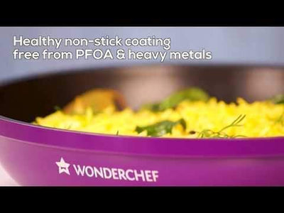 Wonderchef Elite Aluminium Nonstick Frying Pan 4mm, Purple-Cookware