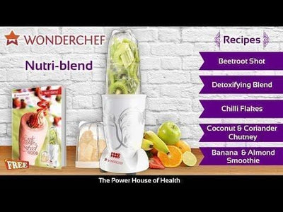 Nutri-Blend Mixer Grinder 400W White With Free Serving Glass Set-White-Appliances