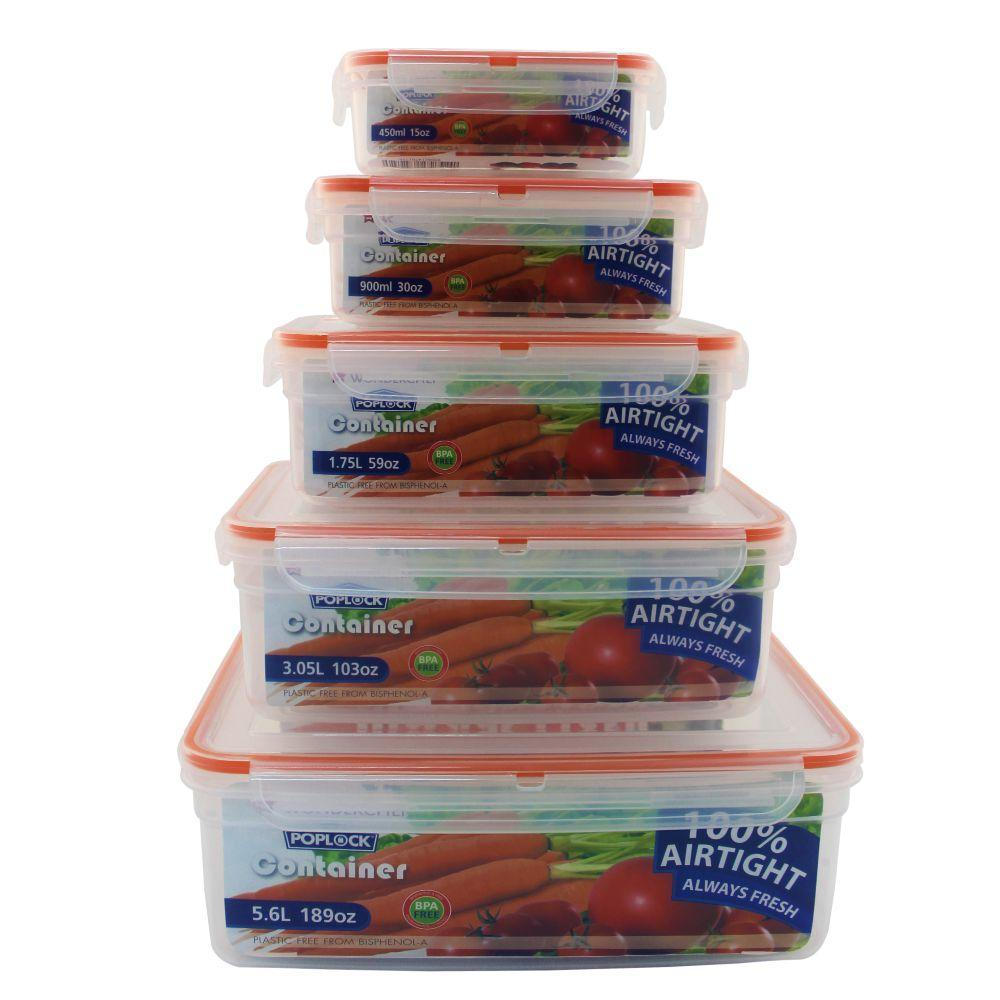 Wonderchef Poplock Container Set Of 5