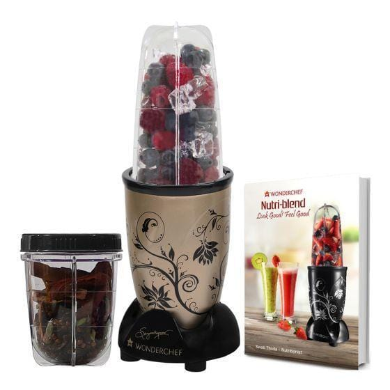 Wonderchef Nutri-Blend Mixer Grinder With Serving Glass Set-Champagne