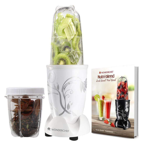 Wonderchef Nutri-blend White W/ Free Glass Set