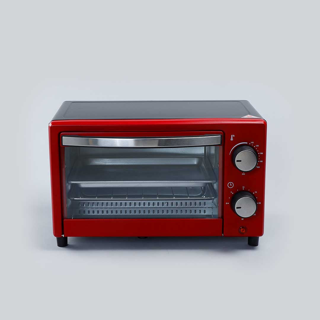 Wonderchef Oven Toaster Griller (OTG) Crimson Edge - 9 Litres - with Auto-shut Off, Heat-resistant Tempered Glass, Multi-stage Heat Selection, 2 Years Warranty, 650W, Red