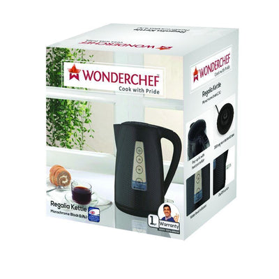 Wonderchef Regalia Kettle Monochrome Black 1.7L