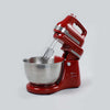 Crimson Edge Stand Mixer, Beater and Dough Kneader, 3 Attachments, 5 Speed Setting, 4.5L Bowl, 300W – Red