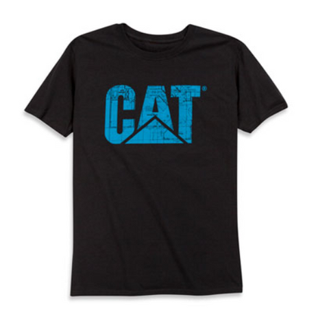 Cat Men's Blueprint Trademark Logo Tee