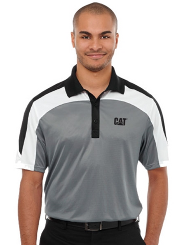 Cat Men's Tri-Color Polo