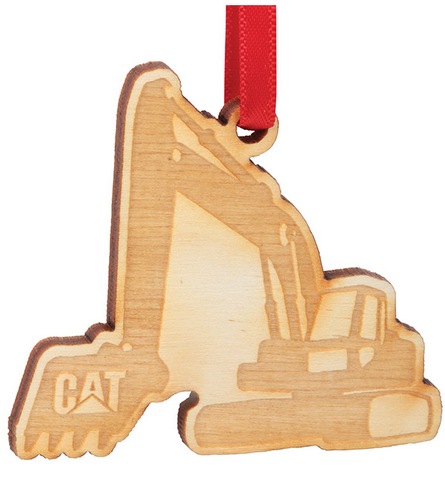 Wooden Excavator Ornament