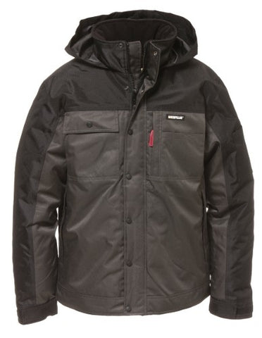 Cat Men's Insulated Hooded Jacket