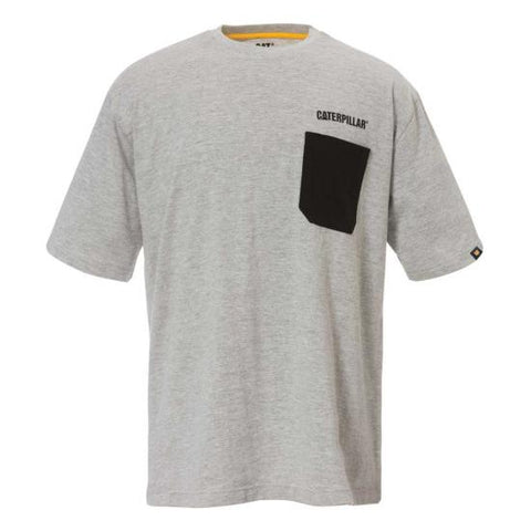 Cat Men's Contrast Pocket Tee