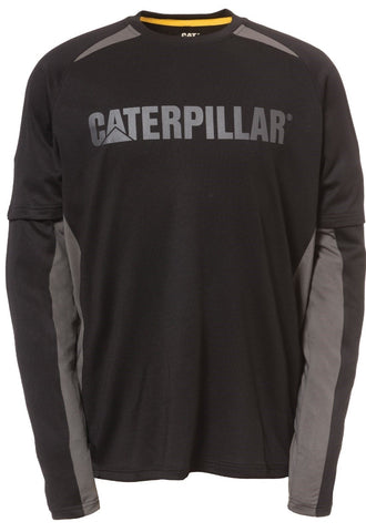 Cat Men's Color Block Performance Long Sleeves Tee