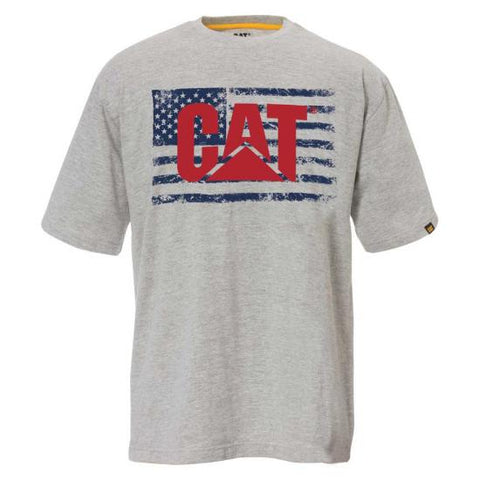 Cat Men's Old Glory Flag Tagless T-Shirt