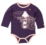 "Cat Infant  ""Demolition Expert"" Bodysuit"
