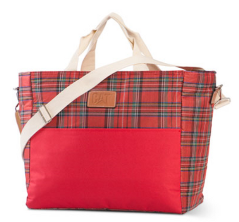 Insulated Plaid Tote