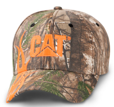 Camo with Orange Flames Cap
