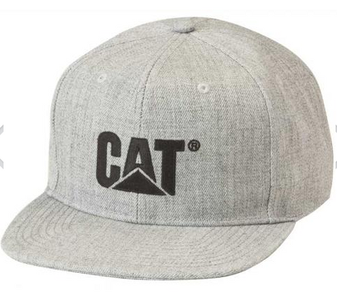 Cat Black Trademark Logo Wool Adjustable Cap (Flat Bill)
