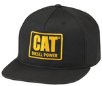 "Cat ""Diesel Power"" Patch Adjustable Cap (Flat Bill)"