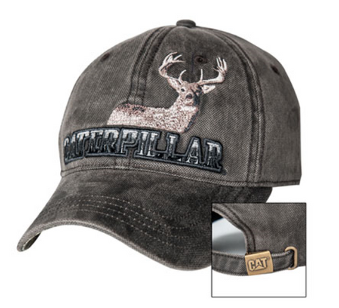 Caterpillar Gray Gradient Logo Buck Unstructured Adjustable Cap