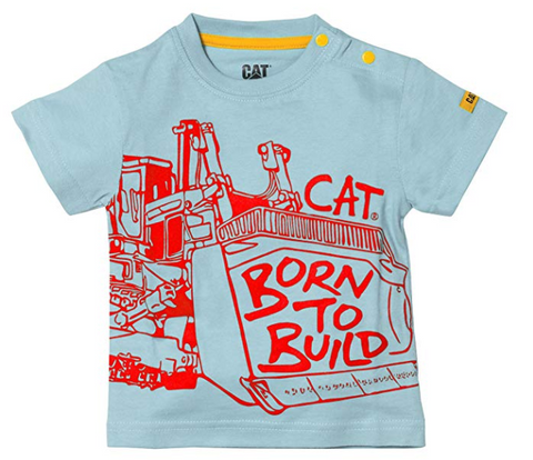 Caterpillar Infant Born to Build T-Shirt