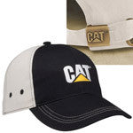 Cat Trademark Logo Khaki Back Structured Adjustable Cap