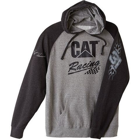 Cat Racing Hooded Trademark Logo Sweatshirt