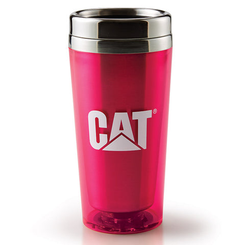 Cat Hot Pink Acrylic Tumbler