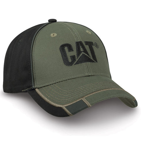 Cat Olive And Black Two-Tone Cap