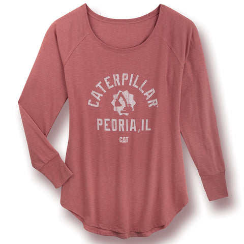 "Caterpillar ""Peoria, IL"" Long Sleeve T-Shirt"