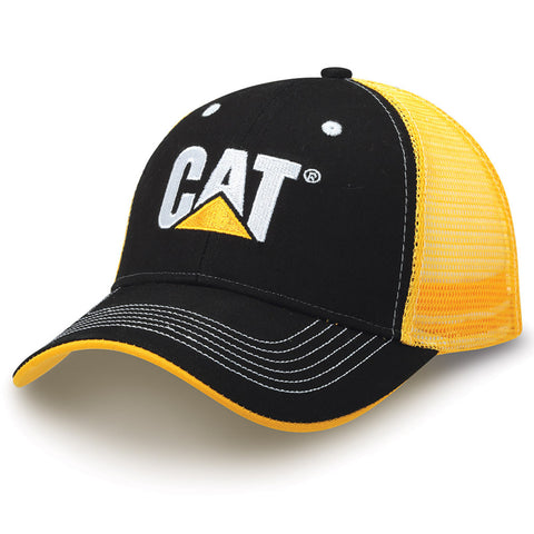Cat Gold Mesh Back Cap