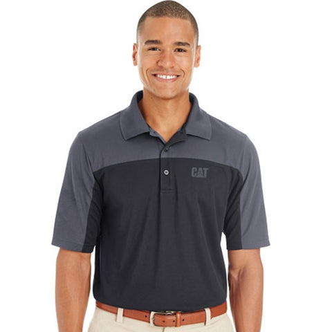 Cat Men's Color Block Performance Polo
