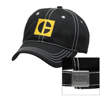 C-Block Black and Yellow Trademark Logo Unstructured Adjustable Cap