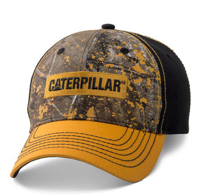 Caterpillar Splattered Camo Adjustable Cap