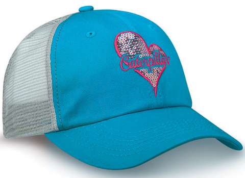 Heart Sequin Caterpillar Cap