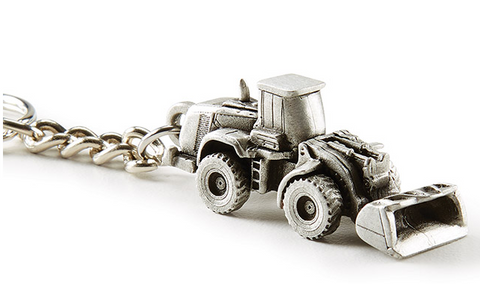 Pewter 980k Wheel Loader Key Chain