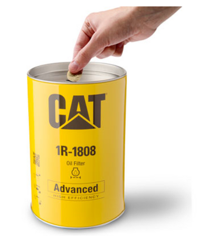 Cat Oil Filter Money Bank