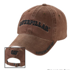 "Caterpillar Black Logo ""A Little Dirt Never Hurt"" Unstructured Adjustable Cap"