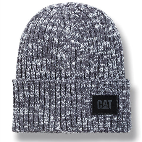 Rib Knit Logo Patch Beanie