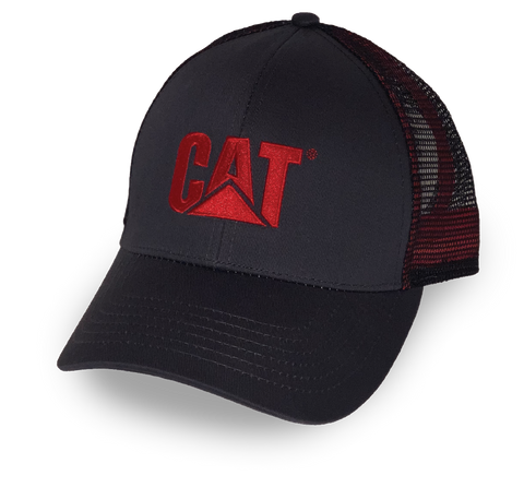 Cat Red Trademark Logo Mesh Adjustable Cap