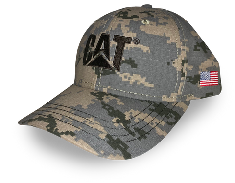 Digital Camo Cap with Flag