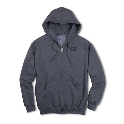 Cat Men's Full Zip Drawstring Hoodie
