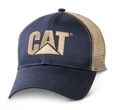Cat Trademark Logo Mesh Navy Cap