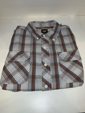 Cat Men's Button-Up Shirt