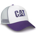 Purple and White Cat Cap