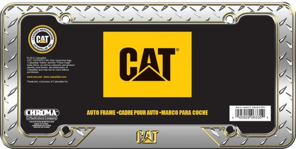 Cat Chrome Plate Frame